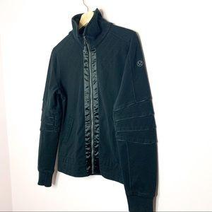 Lululemon Black Satin Front Jacket 8